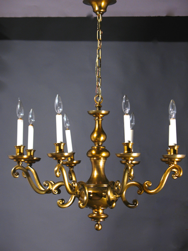 Genuine antique lighting very large 8 light williamsburg chandelier very large 8 light williamsburg chandelier aloadofball Image collections