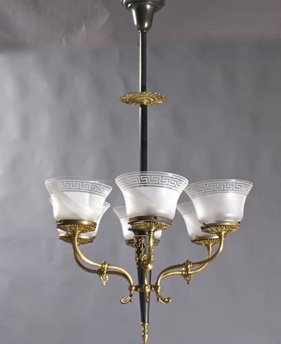 Electric Chandelier Genuine antique lighting 6 light gas and electric chandelier 6 light gas and electric chandelier audiocablefo