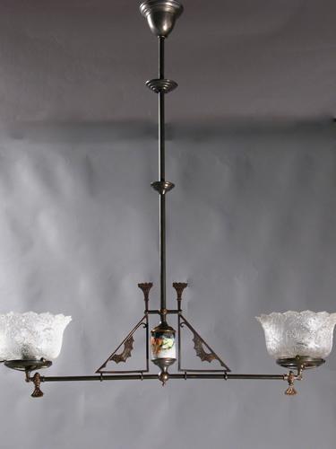 2 light eastlake gas chandelier