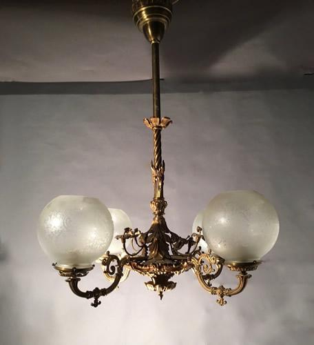 Archer warner 4 light gas chandelier