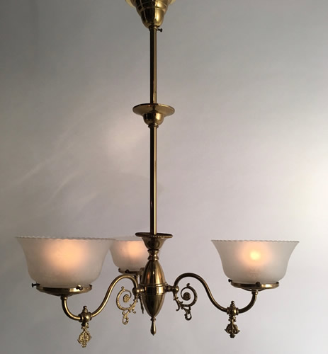 Genuine antique lighting chandeliers circa 1895 26 d aloadofball Choice Image