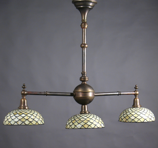 3 light arts and crafts kitchen island billiard pool table chandelier