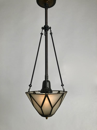 Genuine antique lighting frosted panel pendants frosted panel pendants aloadofball Choice Image