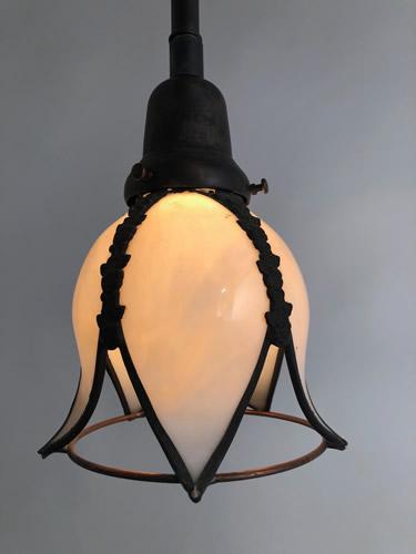 Genuine antique lighting tulip shaped pendants tulip shaped pendants aloadofball Choice Image