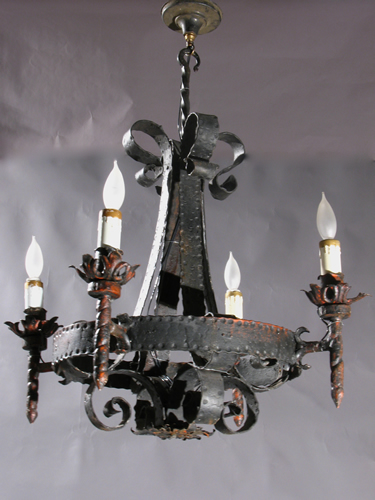 Wrought Iron Chandelier l Best Priced Rustic Antique Wrought Iron