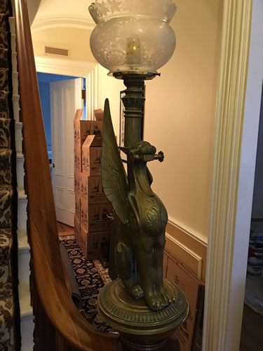 Genuine Antique Lighting Eastlake Egyptian Revival