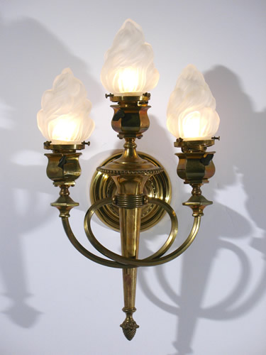 modern company sconce large lamps collection o lamp coppersmith mica torch